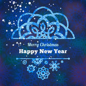 クリスマスの雪の結晶 — ストックベクタ