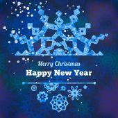 Snowflakes for Christmas — Stockvector
