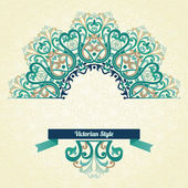 Ornate pattern in Victorian style. — Stock Vector