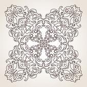 Barock ornament i viktoriansk stil. — Stockvektor