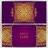 Vintage ornate cards in oriental style. — Stockvektor