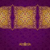 Bordure transparente en style oriental. — Vecteur