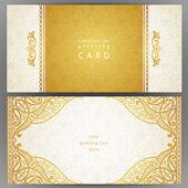 Ročník zdobené karet v orientálním stylu. — Stock vektor