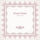 Frame in Eastern style. — Stock Vector