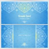 Cards in oriental style. — Stock Vector