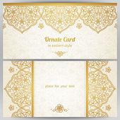 Cards in oriental style. — Διανυσματικό Αρχείο
