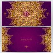 Cards in oriental style. — Stock vektor