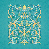 Vector floral pattern in Victorian style. — Stock Vector