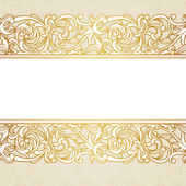 Vector floral border in Victorian style. — Stock Vector