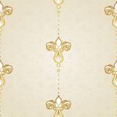 Vector seamless pattern in Victorian style. — Stok Vektör