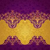 Vector floral border in Eastern style. — Stock Vector