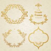 Vector set of vintage ornaments in Eastern style. — Stock Vector