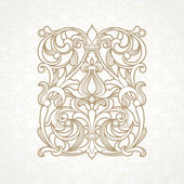 Floral pattern in Victorian style — Stock Vector