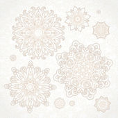 Set of vintage patterns in Victorian style. — 图库矢量图片