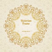 Filigree vector frame in Victorian style. — Stock Vector