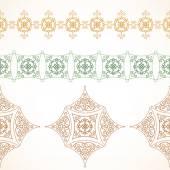 Bezešvé hranice ve východním stylu — Stock vektor