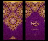 Cartões ornamentados em estilo oriental. — Vetor de Stock