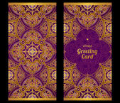 Ornate cards in Eastern style. — Stock Vector