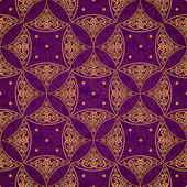 Seamless pattern with golden ornaments — Stockvector