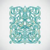 Floral pattern in Victorian style — Vetor de Stock