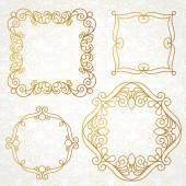 Elegant frames design in Eastern style. — Stock Vector