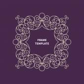 Decorative line art frame for design. — Stock Vector