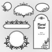 Filigree line art frames in Eastern style. — Stock Vector