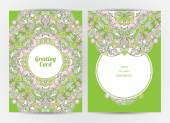 Ornate cards with Eastern elements. — Vettoriale Stock