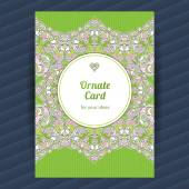 Ornate card with Eastern elements. — Vettoriale Stock