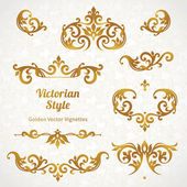 Ornate borders and vignettes — Stock Vector