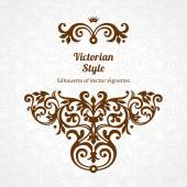 Lace pattern in Victorian style — Stock Vector