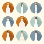 Brids In Wedding Dresses — Stock Vector #52715219