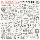 бизнес doodle набор элементов — Cтоковый вектор