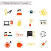 Set of flat social marketing icons — Stock Vector