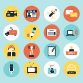 Set of vector journalism icons — Stock Vector