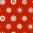 Christmas seamless pattern with ornamental snowflakes — Stock Vector #54814943