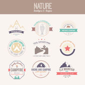 Nature Logo Collection — Stock Vector