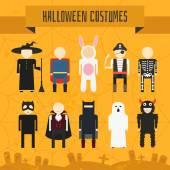 Disfraces de halloween — Vector de stock