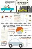 Road Trip Infographic — Stock Vector
