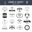 Set of barber and haircut logos — Stock Vector #54823811