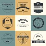 Set of barber and haircut logos — Stock Vector #54823827