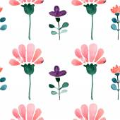 Floral watercolor seamless pattern — Stock Vector