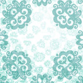 Elegant damask card template — Stock Vector