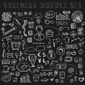 Business Doodle Element Set — Stock Vector