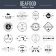 Seafood Icons — Stock Vector #56995575