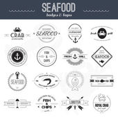 Seafood Icons — Stock Vector