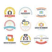 Photography Logos — Stock Vector