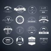 Barber Logos — Vector de stock