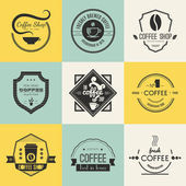 Coffee Shop Logo Collection — Stock Vector