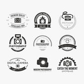 Photography Logos — Stock Vector